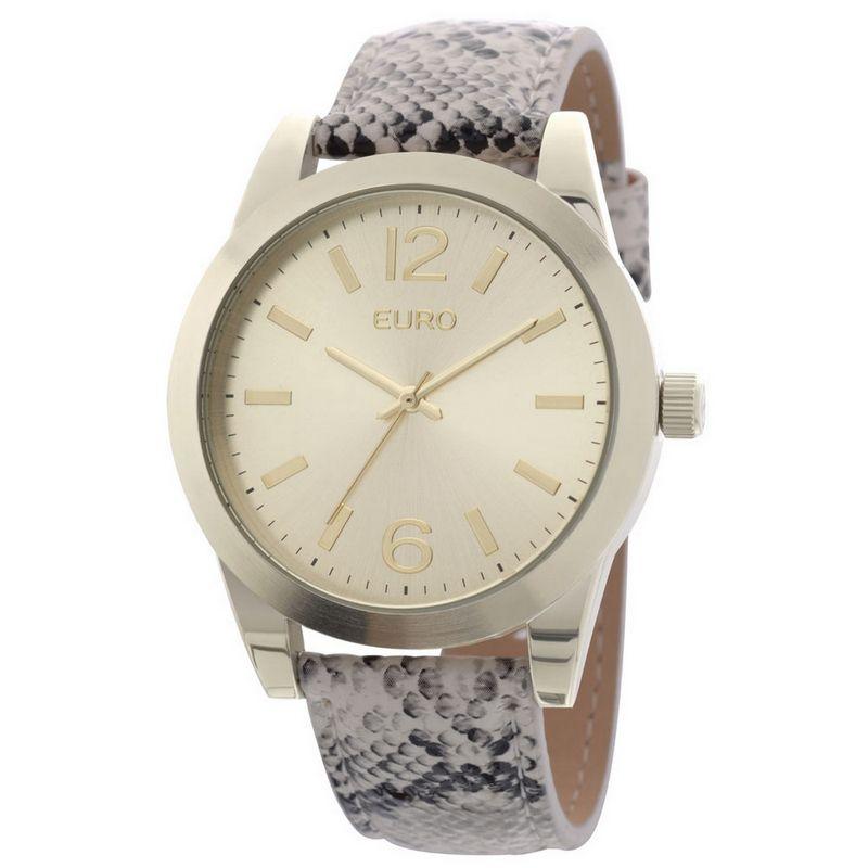 Relógio Euro Feminino Couro Cobra Analógico Casual Fashion EU2035YAE/2D
