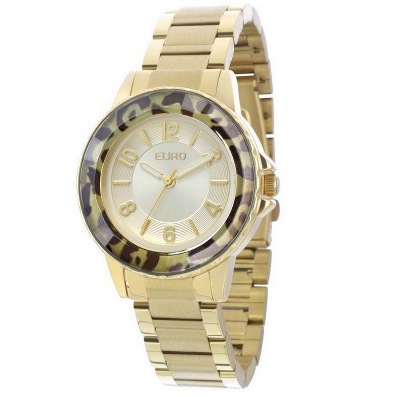 Relógio Euro Feminino Dourado Aço Analógico Casual EU2035XZC/4D