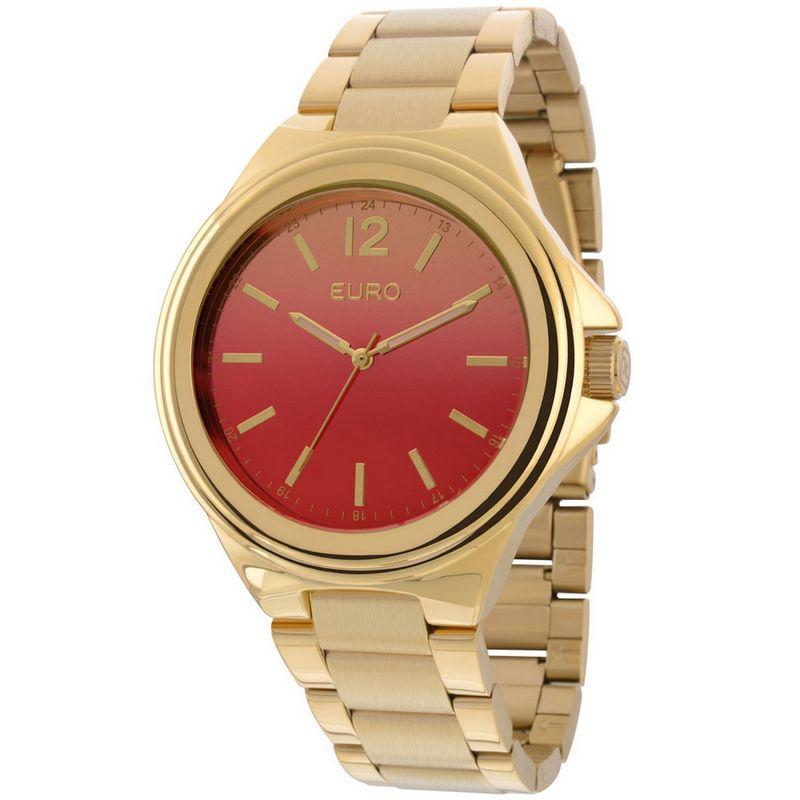 Relógio Euro Feminino Dourado Aço Analógico Casual EU2035YAH/4R