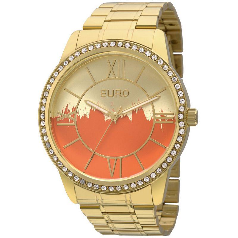 Relógio Euro Feminino Dourado Aço Analógico Fashion EU2035YEA/4R