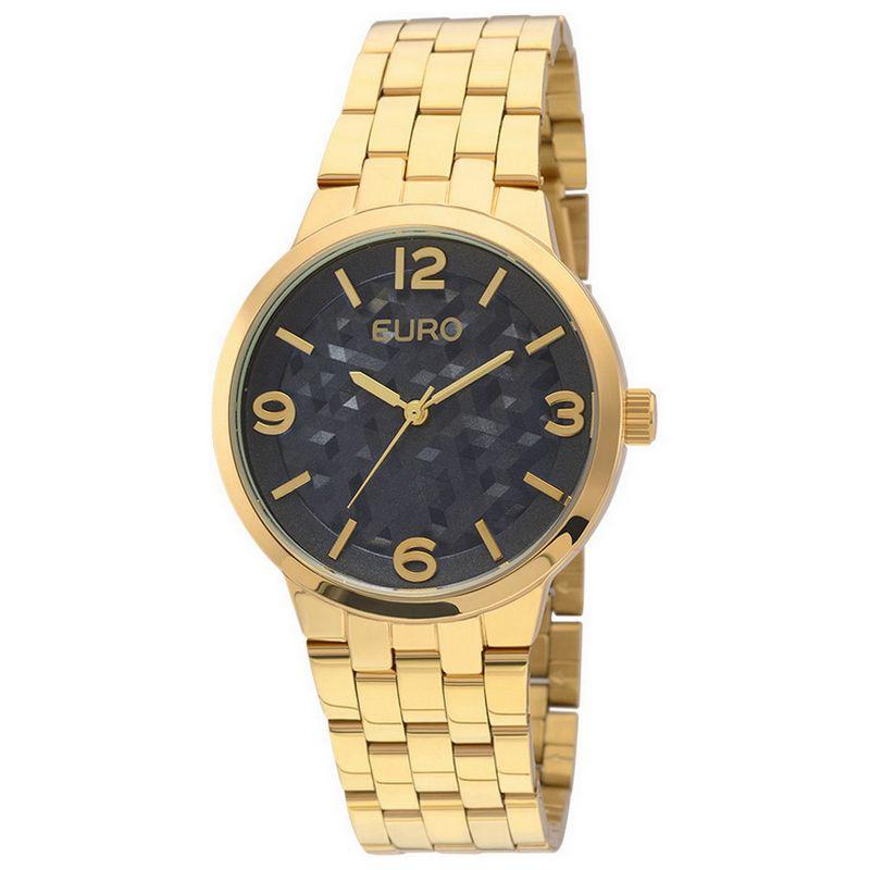 Relógio Euro Feminino Dourado Aço Analógico Fashion EU2036LZG/4A