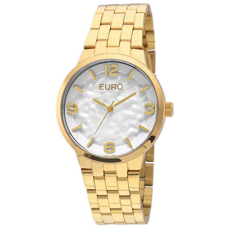 Relógio Euro Feminino Dourado Aço Analógico Fashion EU2036LZG/4B
