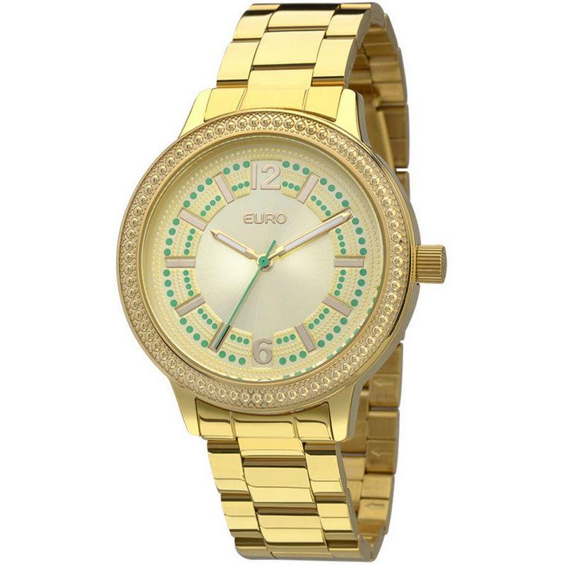Relógio Euro Feminino Dourado Aço Analógico Fashion EU2036LZK/4D