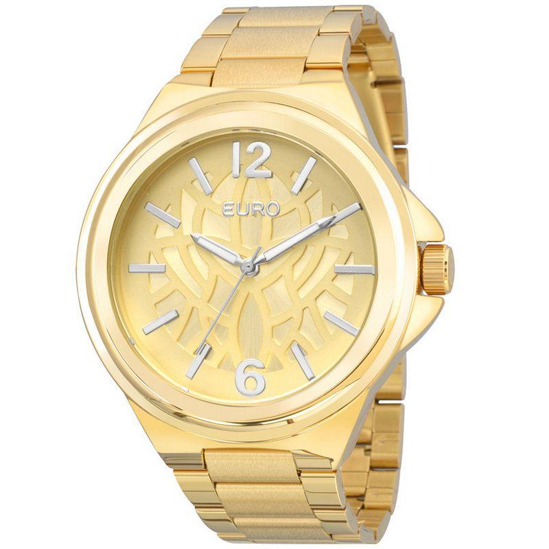 Relógio Euro Feminino Dourado Aço Analógico Fashion EU2039JC/4D