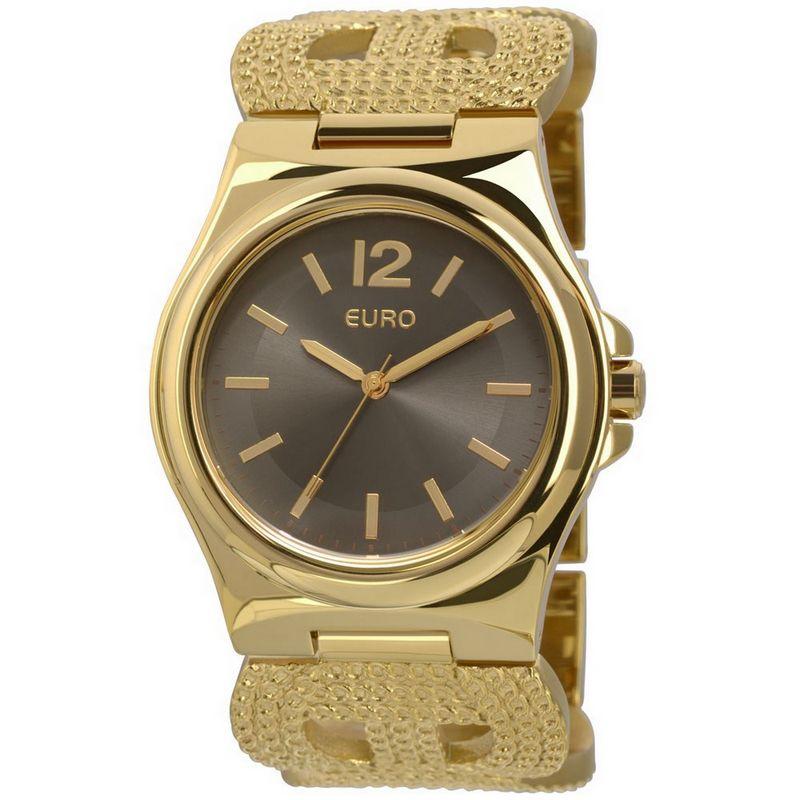 Relógio Euro Feminino Dourado Bracelete Analógico Casual EU2035XZU/4P