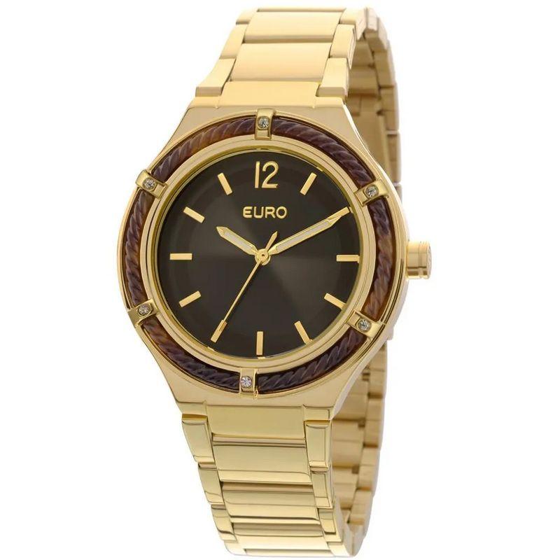 Relógio Euro Feminino Dourado Fashion Analógico Aço Inox EU2035YAM/4P