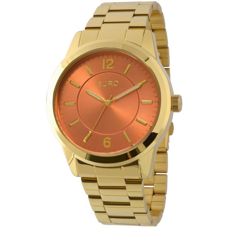 Relógio Euro Feminino Dourado Fashion Analógico Aço Inox EU2036LZD/4L