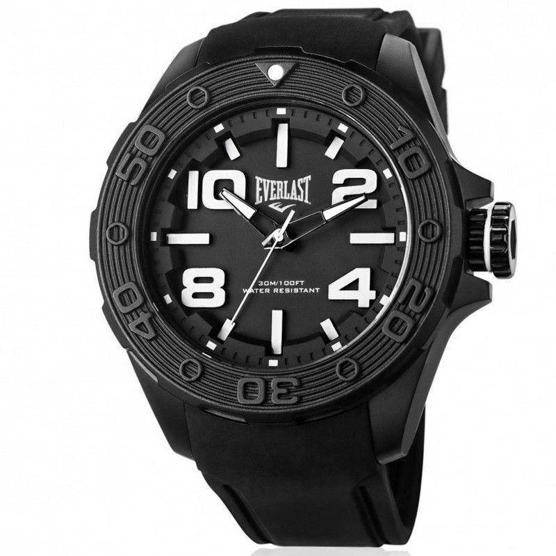 Relógio Everlast Masculino Preto Cronógrafo Silicone E617
