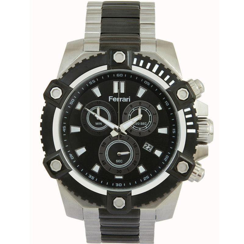 Relógio Ferrari Masculino Aço Inoxidável Cronógrafo Multi Função T12-047-1