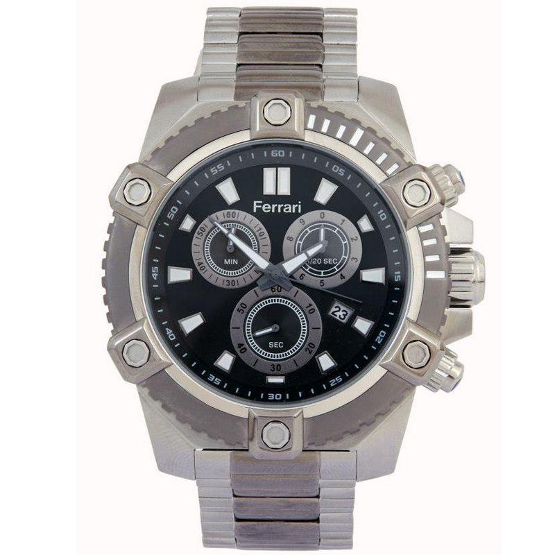 Relógio Ferrari Masculino Aço Inoxidável Cronógrafo Multi Função T12-047-2