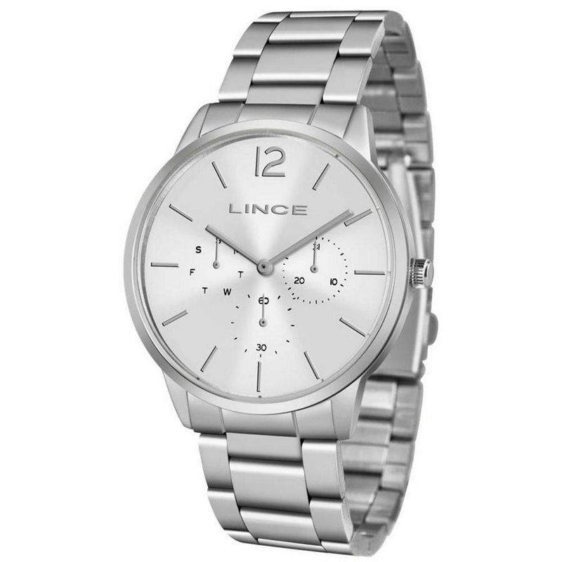 Relógio Lince Feminino Prata Aço Inox Multi Função Analógico LMMJ087L S2SX