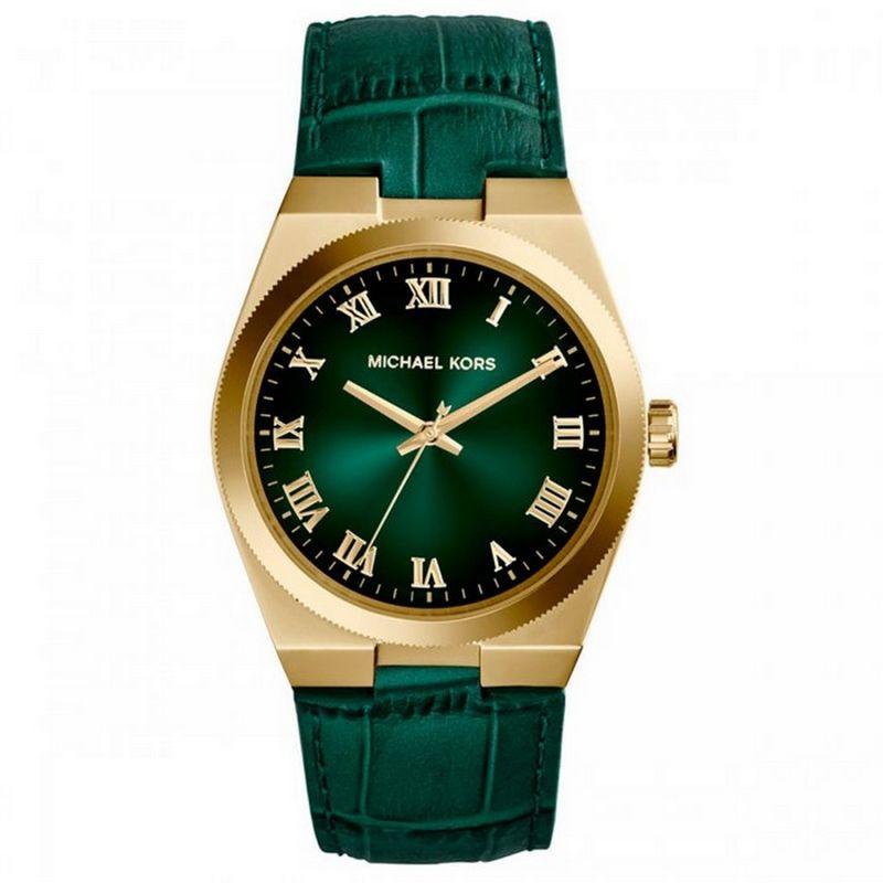 Relógio Michael Kors Feminino Couro Verde Analógico Casual MK2356/2VN