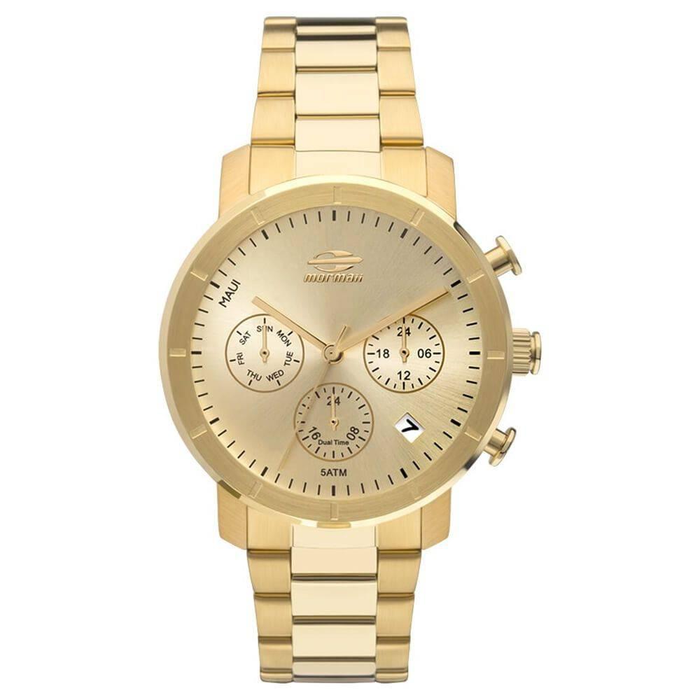 Relógio Mormaii Feminino Dourado Maui Cronógrafo Multi Função MOJP25CAQ/4D