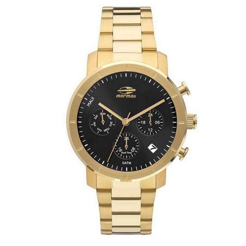 Relógio Mormaii Feminino Dourado Maui Cronógrafo Multi Função MOJP25CAQ/4P