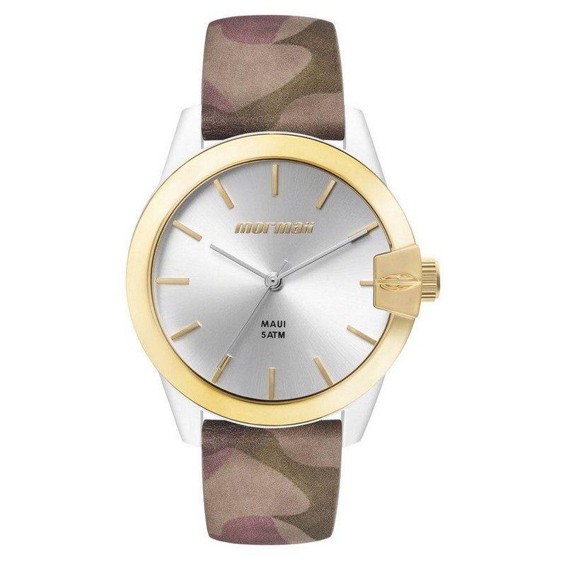 Relógio Mormaii Feminino Maui Couro Camuflada Analógico MO2035IL/8B