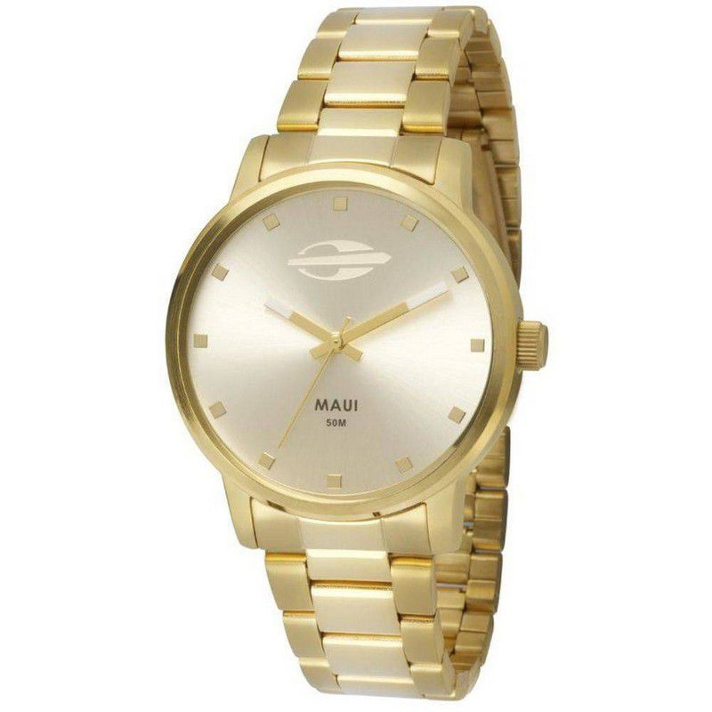 Relógio Mormaii Feminino Maui Dourado Analógico MO2035GN/4K