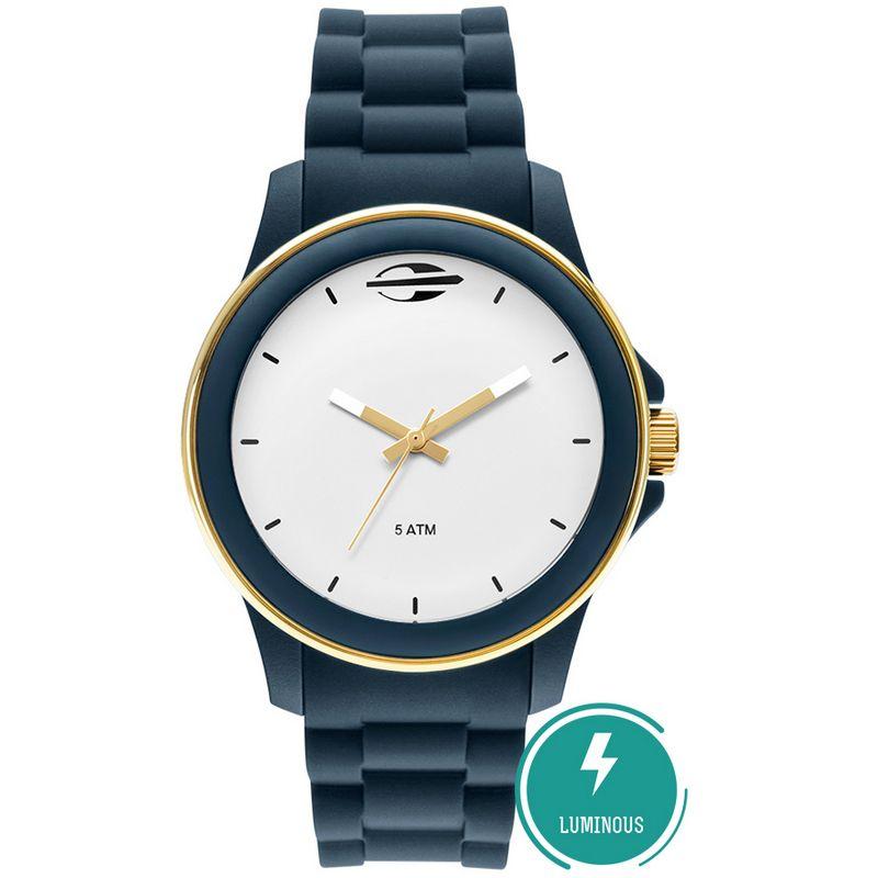 Relógio Mormaii Feminino Maui Silicone Azul Analógico MO2036IP/8A