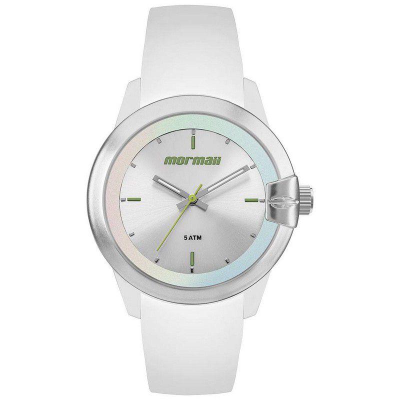 Relógio Mormaii Feminino Silicone Branco Analógico MO2035JJ/8B