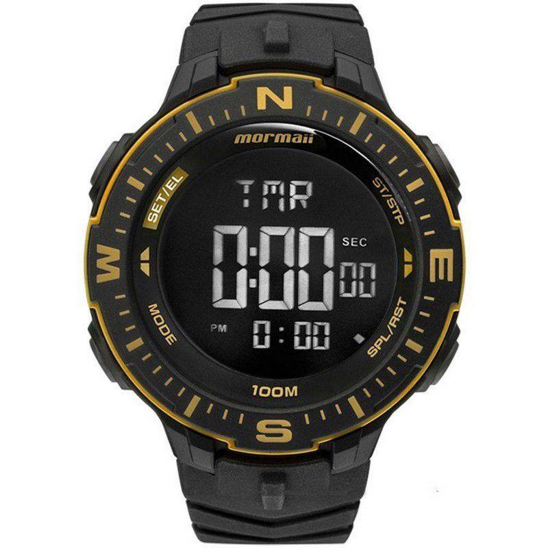 Relógio Mormaii Masculino Acqua Silicone Preto Digital  MONK005/8D