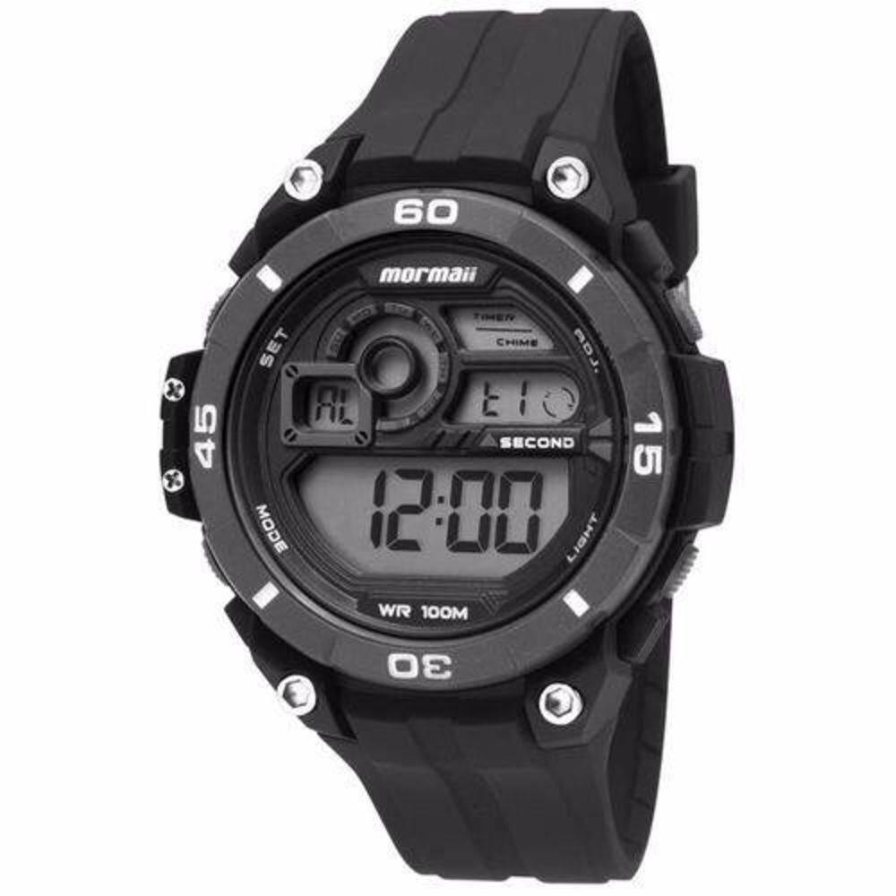 c3e24ebcf Relógio Mormaii Masculino Borracha Preto Acqua Digital Cronógrafo MO2019/8P  - Empório das Alianças ...