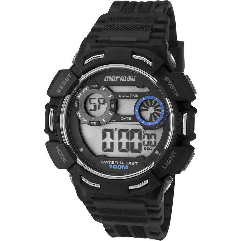 Relógio Mormaii Masculino Plástico Preto Digital Alarme Calendário Cronômetro MO1463/8A