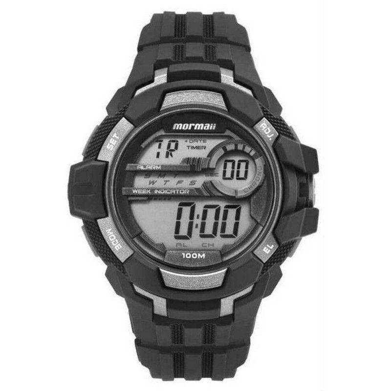 Relógio Mormaii Masculino Polímero Preto Digital MO82011AA/8C