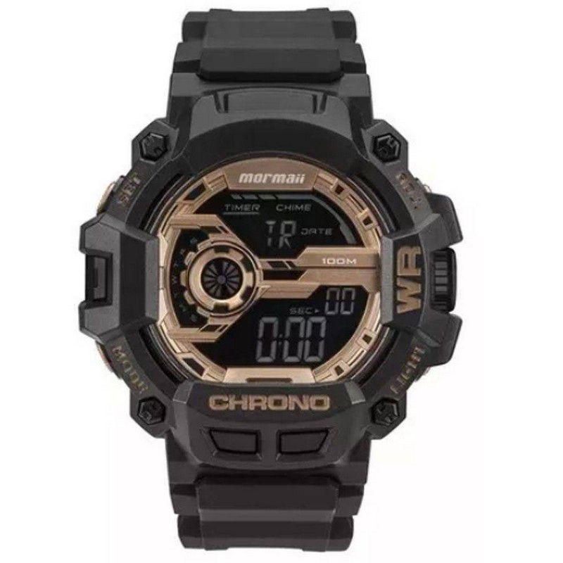 Relógio Mormaii Masculino Poliuretano Preto Digital MO1105B/8J