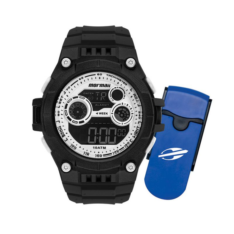 Relógio Mormaii Masculino Poliuretano Preto Digital MO9000D/K8B