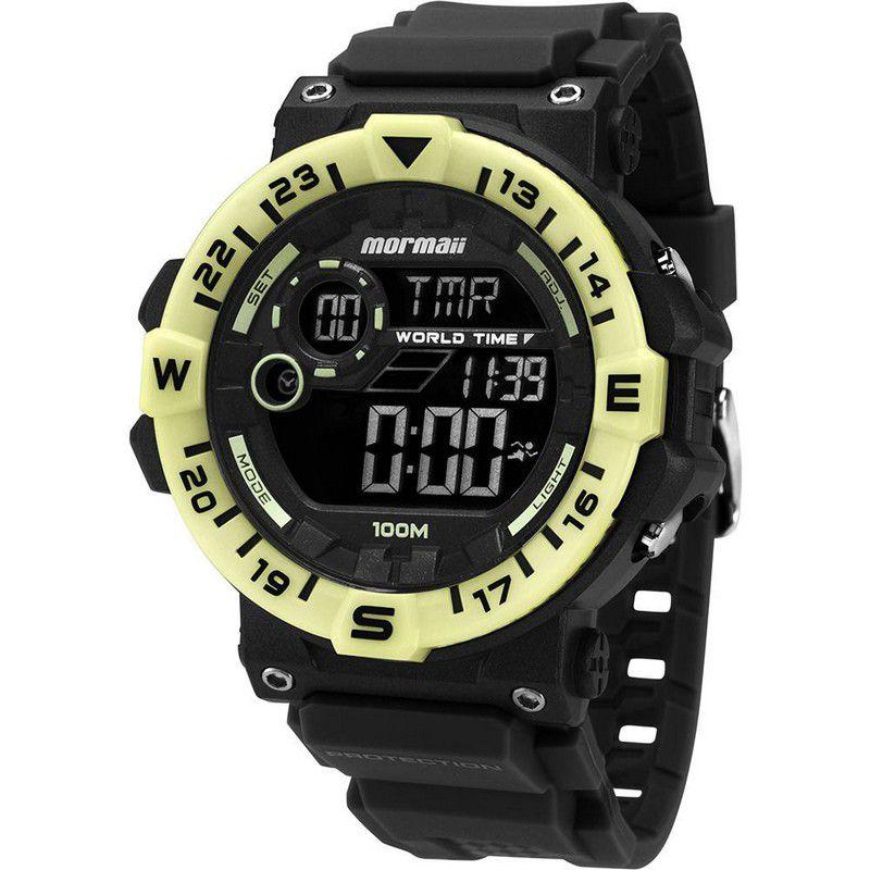 Relógio Mormaii Masculino Poliuretano Preto Digital MOM1131B/8P