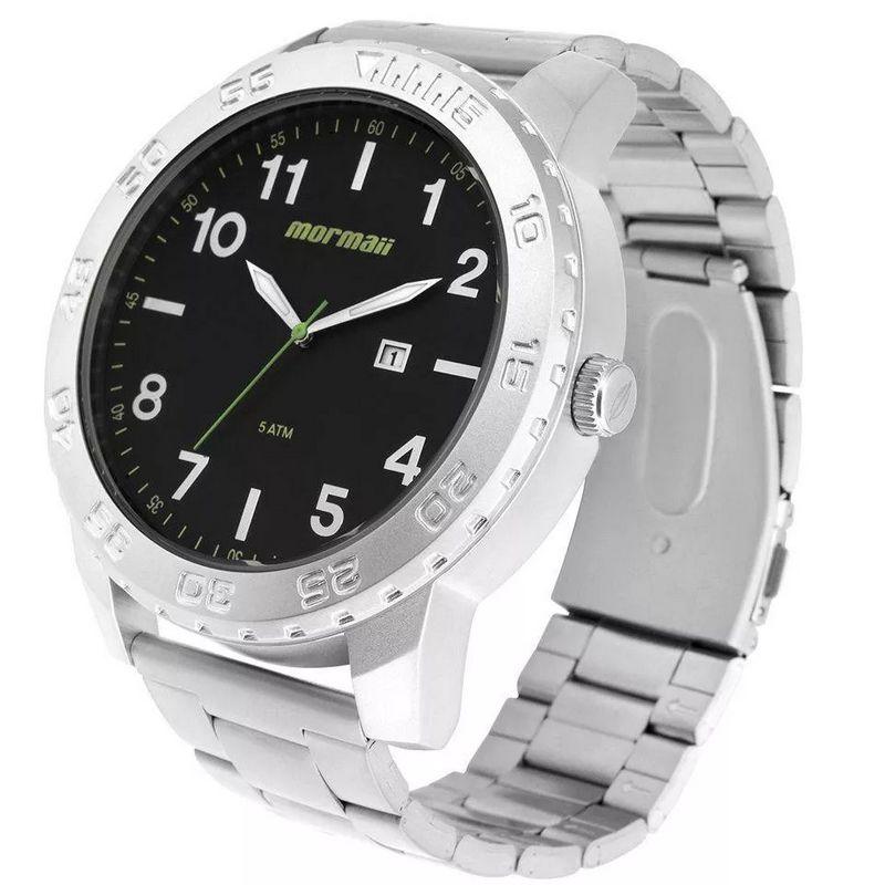 Relógio Mormaii Masculino Prata Analógico Aço Inox Calendário MO2115BD/1P