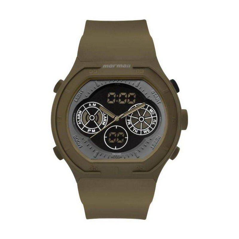 Relógio Mormaii Masculino Silicone Anadigi Multifunção MO160323AI/8V
