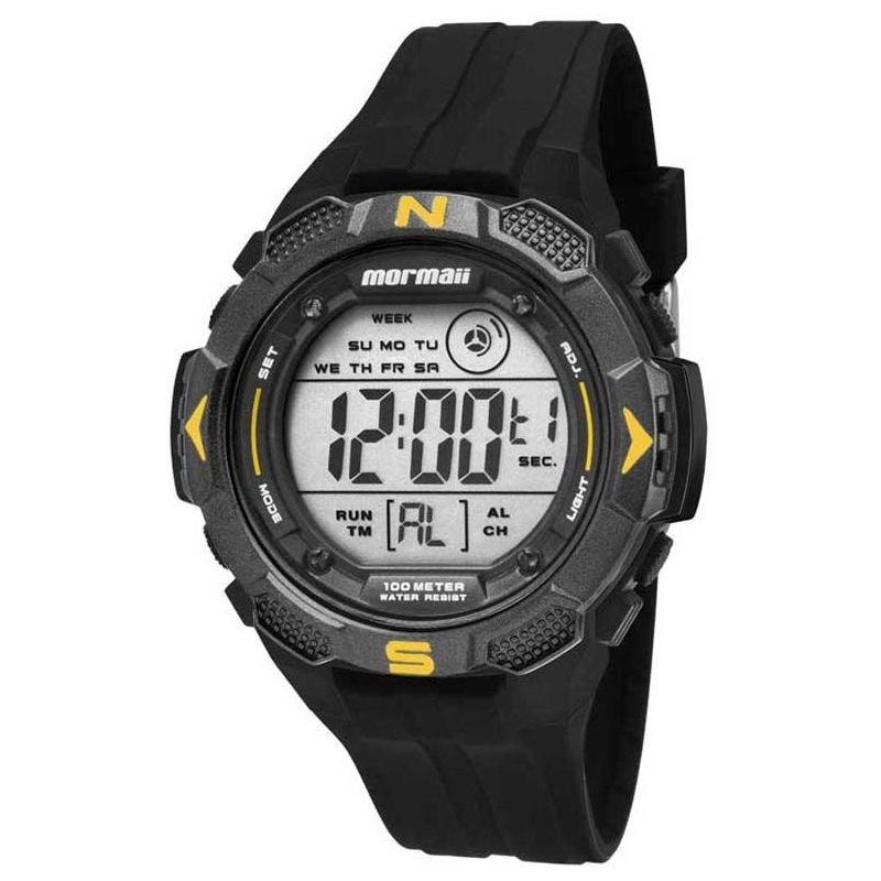 Relógio Mormaii Masculino Silicone Preto Wave Digital Cronógrafo MO2908/8Y