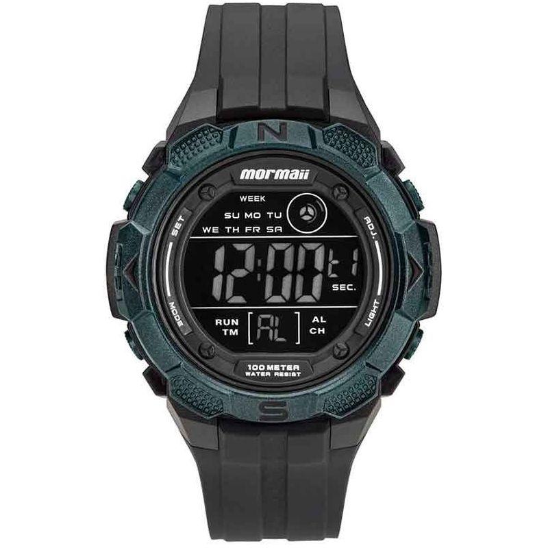 Relógio Mormaii Masculino Silicone Preto Wave Digital Cronógrafo MO2908AA/8V