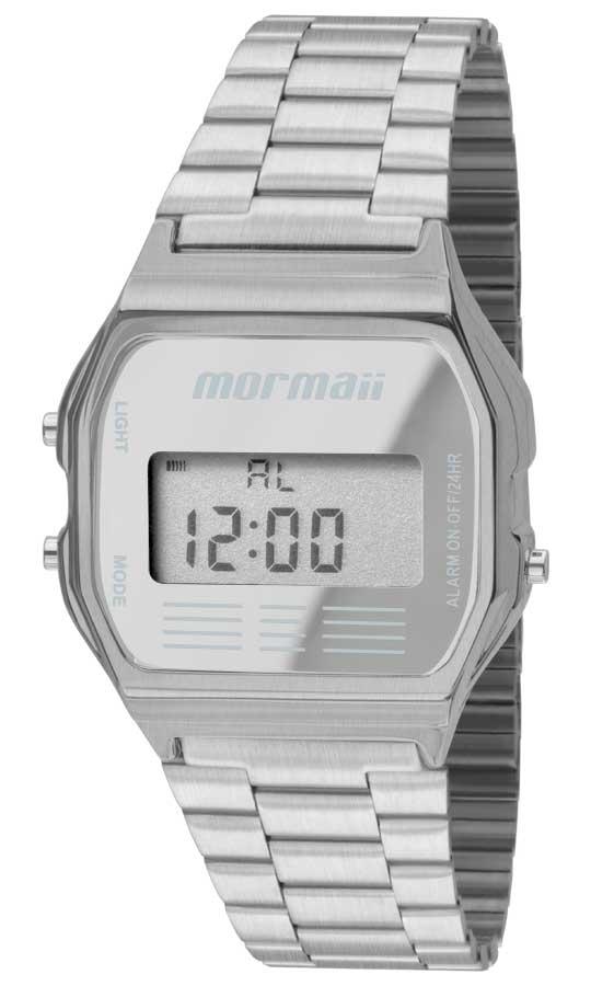 Relógio Mormaii Unissex Aço Vintage Digital Prata MOJH02AA/3C
