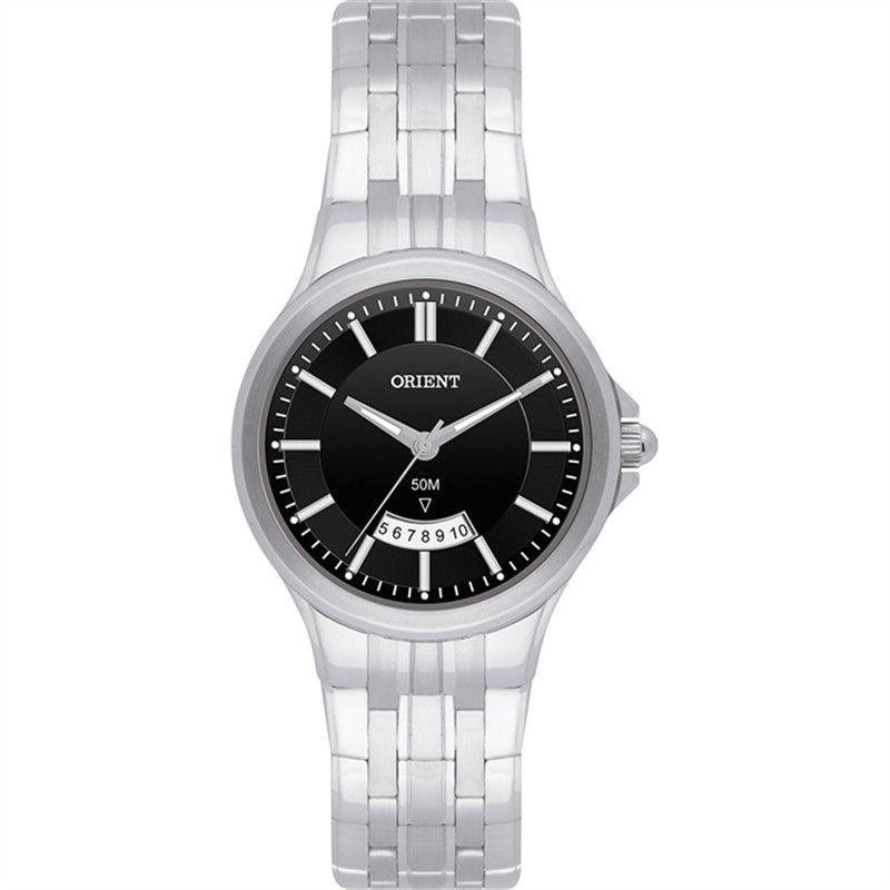 Relógio Orient Feminino Calendário Aço Inoxidável Prata FBSS1067 P1SX