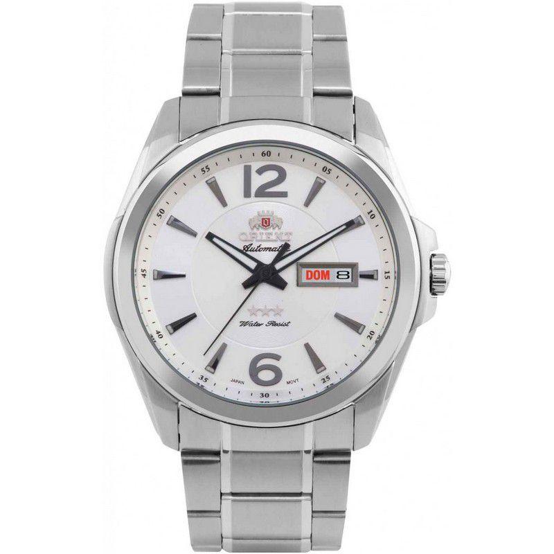 Relógio Orient Masculino Automático Aço Inoxidável Calendário 469SS050 S2SX