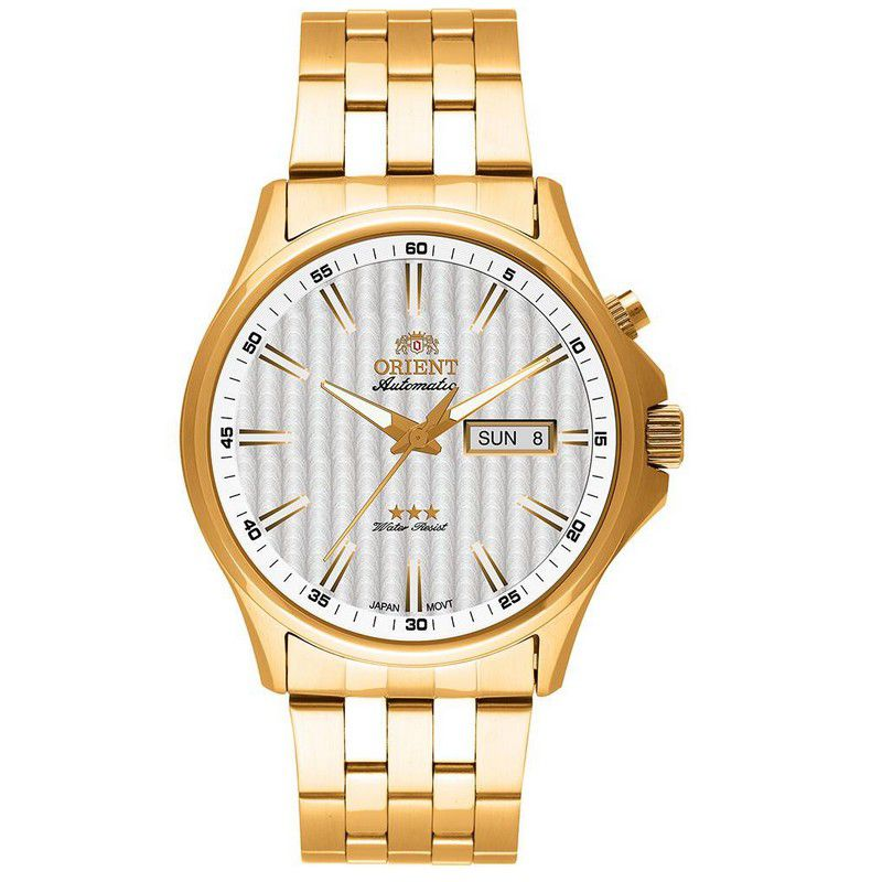 Relógio Orient Masculino Calendário Aço Inox Automatic 469GP043 S1KX