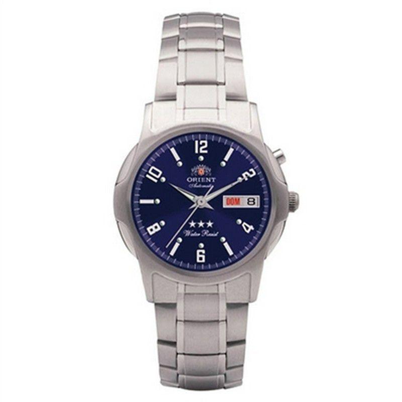 Relógio Orient Masculino Calendário Aço Inoxidável Automático 469SS007 D2SX