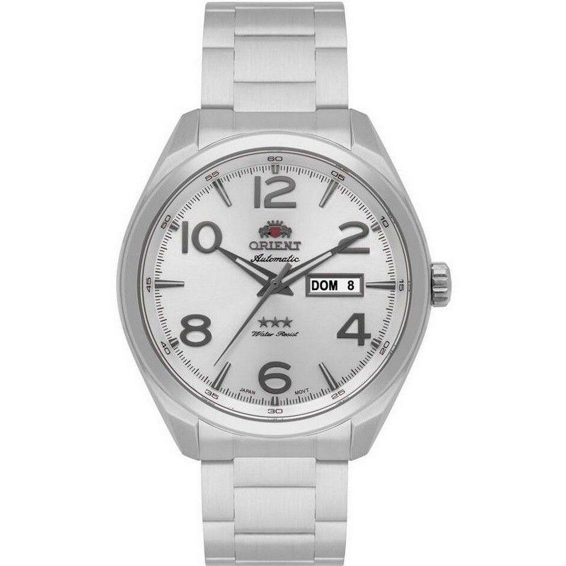Relógio Orient Masculino Calendário Aço Inoxidável Prata 469SS062 S2SX