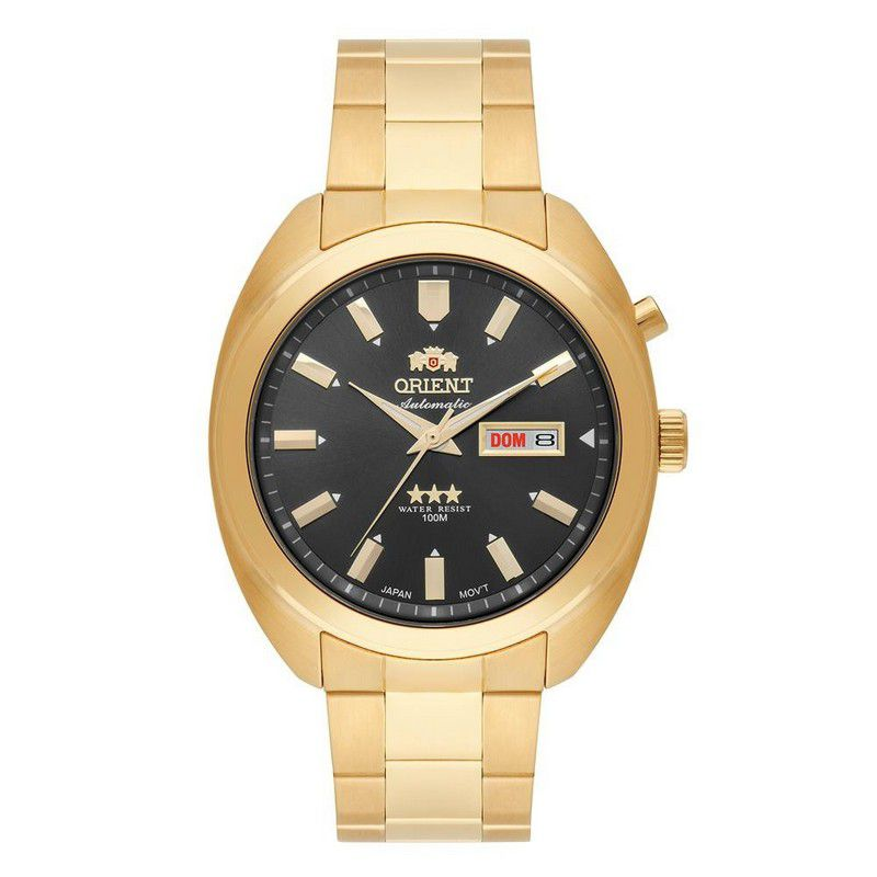 Relógio Orient Masculino Calendário Automático Aço Inoxidável Prata 469GP077 G1KX