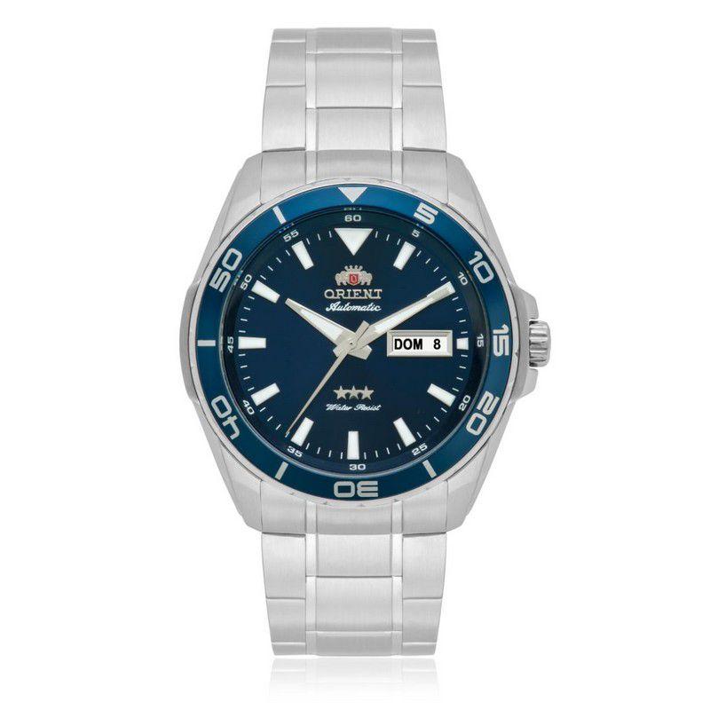 Relógio Orient Masculino Calendário Taquímetro Aço Inoxidável Automático 469SS063 D1SX
