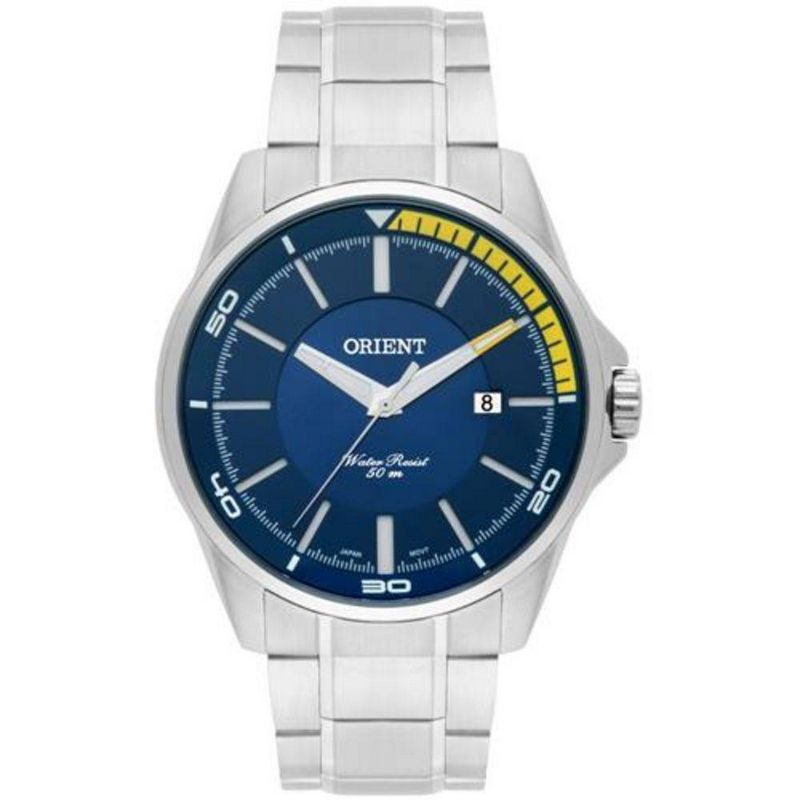 Relógio Orient Masculino Prata Aço Inoxidável Analógico MBSS1296 D1SX