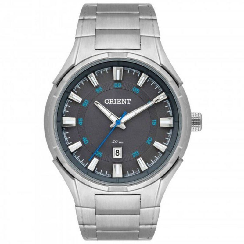 Relógio Orient Masculino Prata Aço Inoxidável Analógico MBSS1348 KW83G1SX