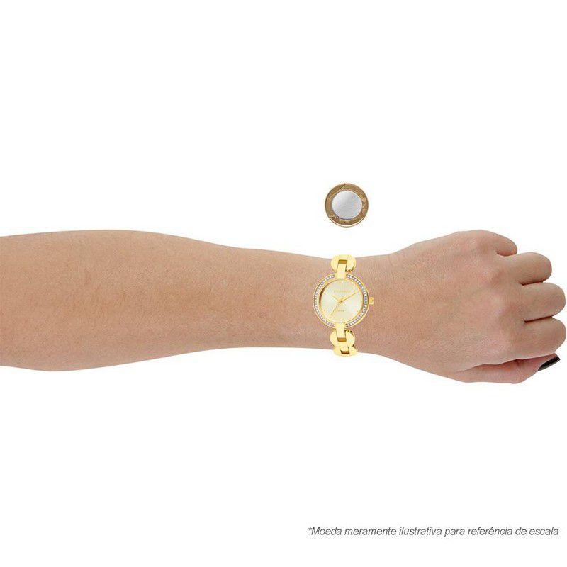 Relógio Technos Feminino Aço Inoxidável Dourado Analógico 2035LVF/4X