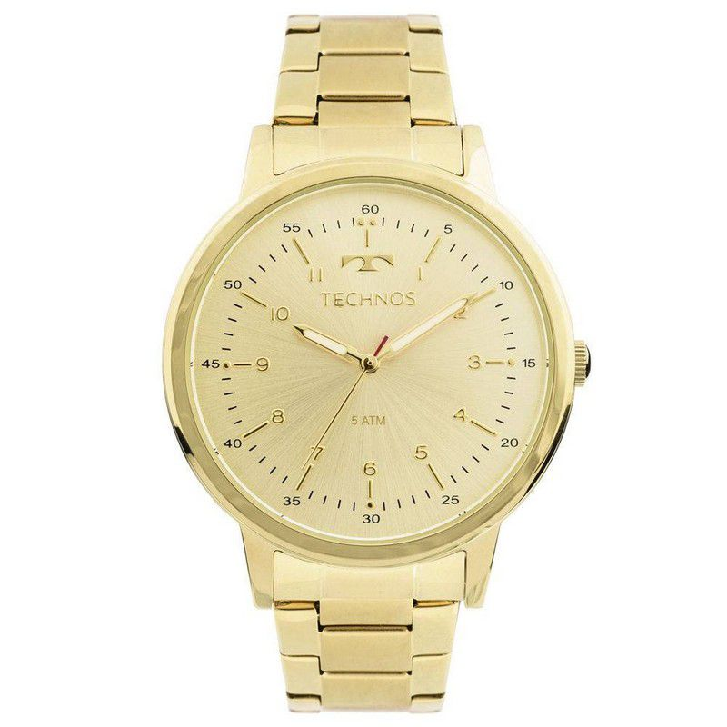 Relógio Technos Feminino Aço Inoxidável Dourado Analógico 2035MFN/4D
