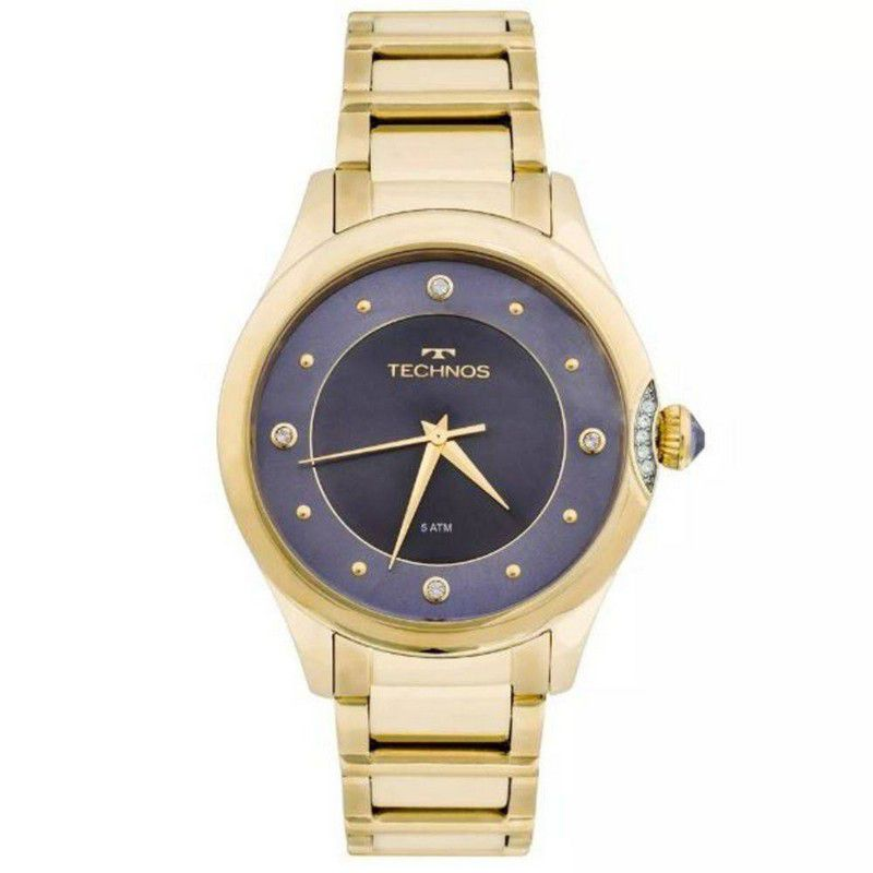 Relógio Technos Feminino Aço Inoxidável Dourado Analógico 2035MFR/4A