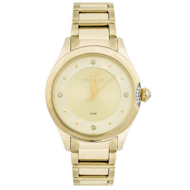 Relógio Technos Feminino Aço Inoxidável Dourado Analógico 2035MFR/4X