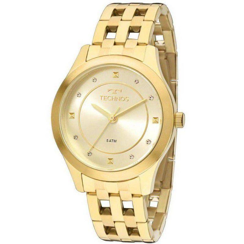 Relógio Technos Feminino Aço Inoxidável Dourado Analógico 2036MFB/4X