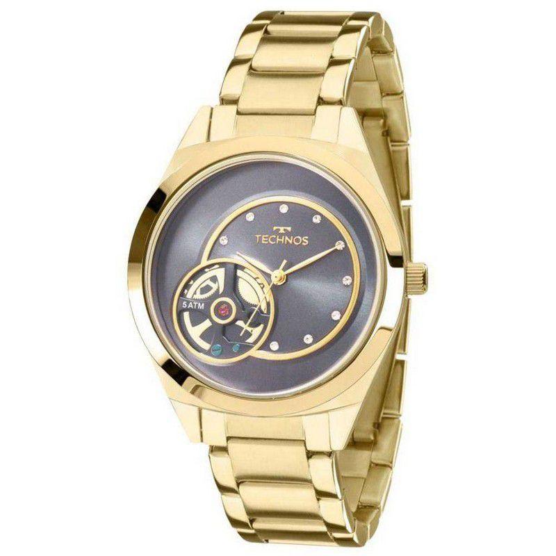 Relógio Technos Feminino Aço Inoxidável Dourado Analógico 2036MFP/4A