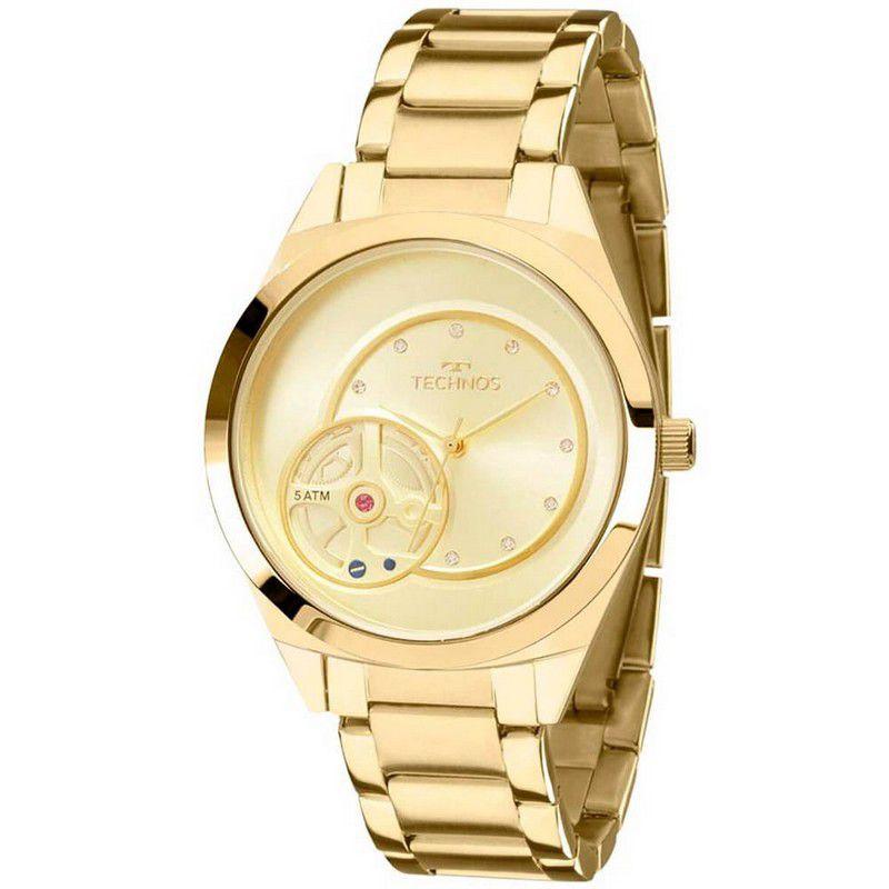 Relógio Technos Feminino Aço Inoxidável Dourado Analógico 2036MFP/4X